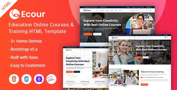 Best Education Courses & Training HTML Template