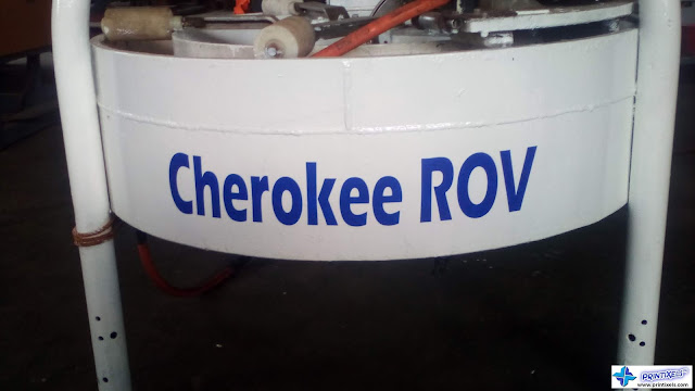 Cut-Out Vinyl Letters - Cherokee ROV