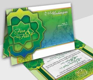 contoh surat undangan pernikahan islami warna hijau