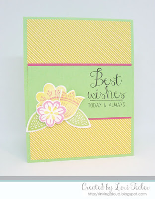 Best Wishes card-designed by Lori Tecler/Inking Aloud-stamps and dies from Reverse Confetti
