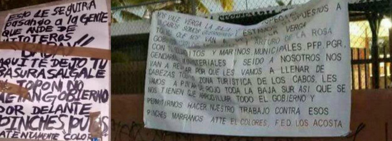 """¡Ahora """"El Colores"""" amenazó con narcomanta a gobernador de BCS y alcalde de Los Cabos! ATT; Fuerzas Especiales Dámaso Acosta"""