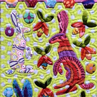 Paradise Landscape quilt: QuiltBee