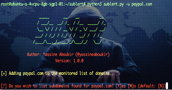 Sublert : Security & Reconnaissance Tool Which Leverages Certificate Transparency