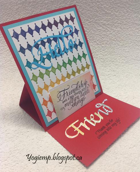 http://yogiemp.com/HP_cards/RainbowMakerClass/RainbowMakerDay2_RainbowStampingHarlequin_ECDHelloFriend_Friendship.html