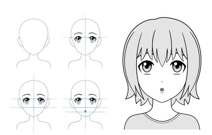 Contoh gambar gadis anime bingung