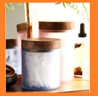 Frosted colored canisters