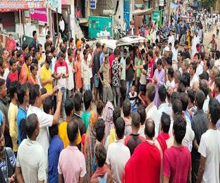 आरा में माले नेता के बेटे की हत्या के दूसरे दिन भारी उबाल, शव रखकर लोगों ने किया सड़क जाम