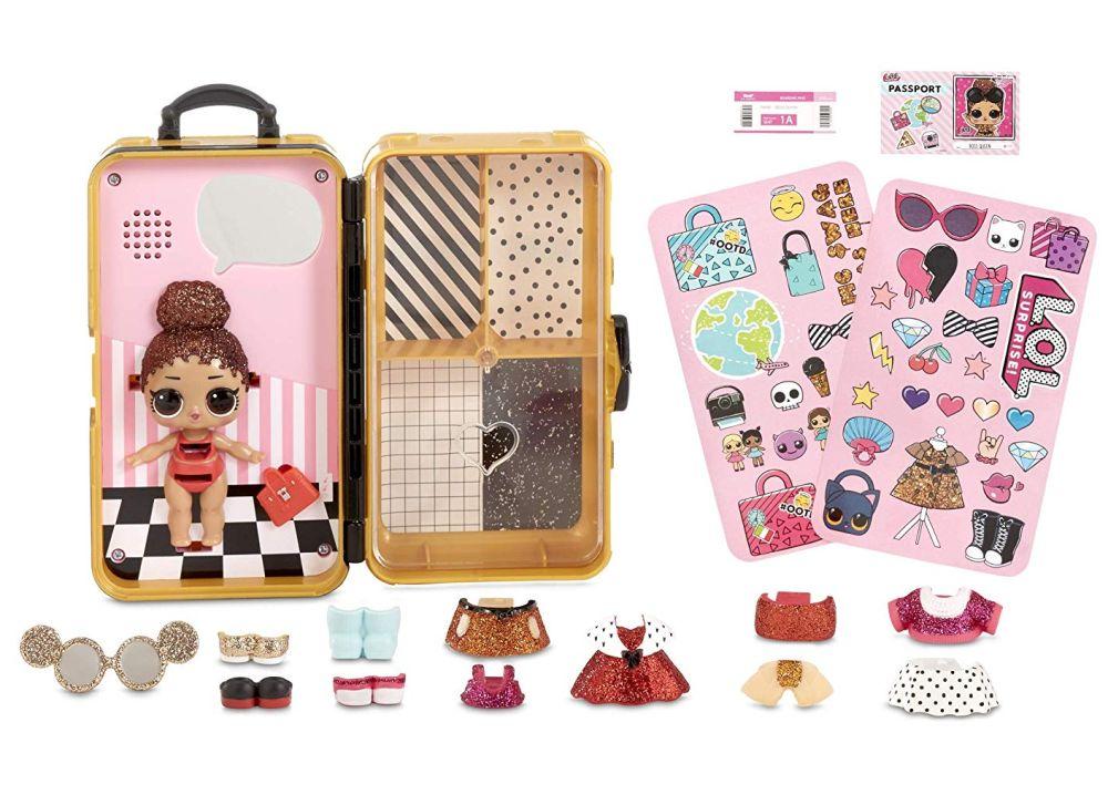 Золотой чемодан с одеждой Лол Сюрприз Boss Baby Style Suitcase