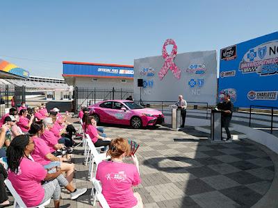 Daniel Hemric, Kurt Busch Team with Breast Cancer Survivors to Paint Pit Wall Pink