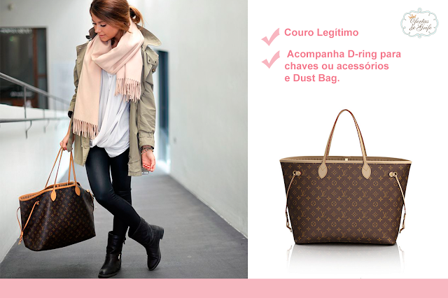 6eea102d1 Bolsa Louis Vuitton Neverfull Monogram GM PREMIUM