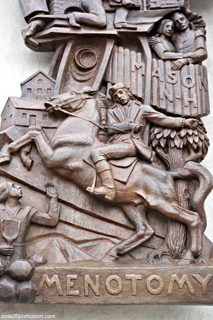 Relieve del Monumento a Samuel Wilson en Arlington, Massachusetts