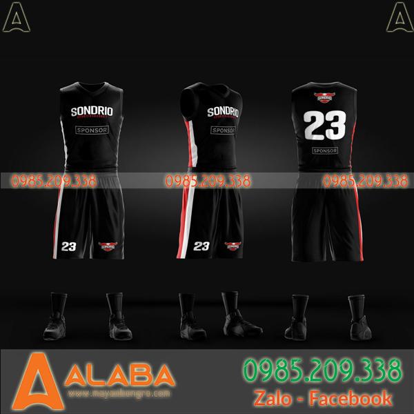 Áo bỏng rổ màu đen thiết kế chất