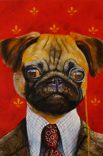 10-The-Professor-Splendid-Beast-Your-Animal-Friend-on-an-Oil-Painting-www-designstack-co