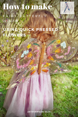 How to make butterfly fairy wings using pressed flowers and contact paper