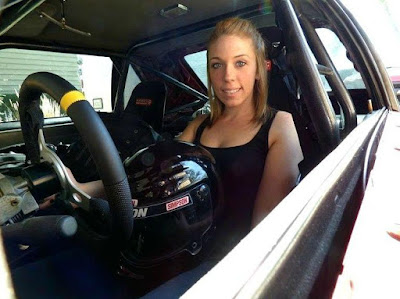 Jackie Braasch ready to drive her car