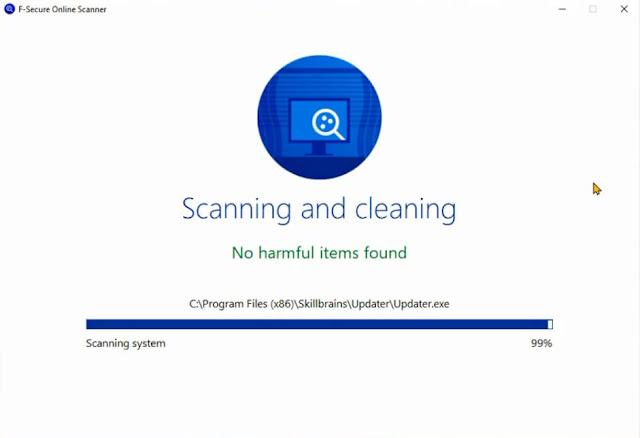 فحص الكمبيوتر حذف وإزالة الفيروسات والبرامج الضارة والخبيثة بنقرة زر واحدة F-Secure Online Scanner