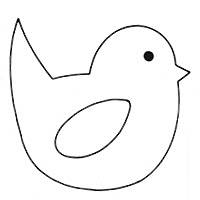 easter chick templates free - early play templates easter chick images