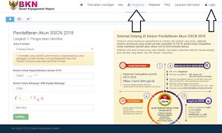Cara melakukan pendaftaran CPNS 2018 di sscn bkn 2018