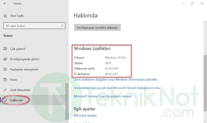 Windows Sürüm Öğrenme