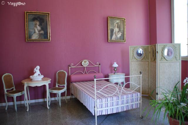 Gli interni della Camera di Carlotta a Villa Carlotta