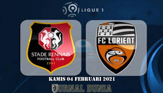 Prediksi Rennes vs Lorient, Kamis 04 Februari 2021 Pukul 01:00 WIB