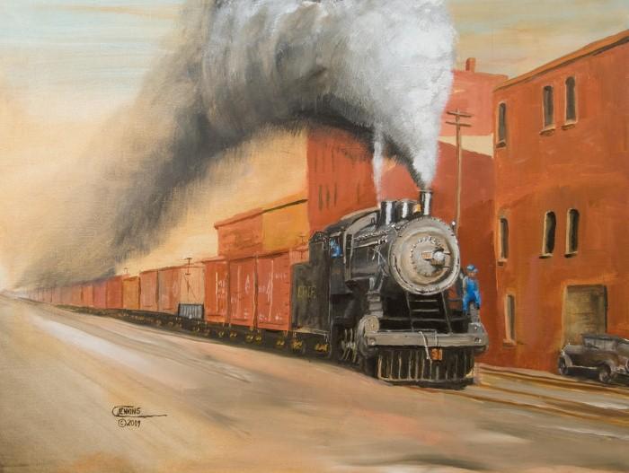 Железнодорожные картины. Christopher Jenkins 9