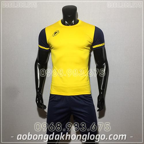 Áo bóng đá ko logo Fagan DG màu vàng