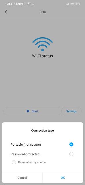 Setting FTP Xiaomi