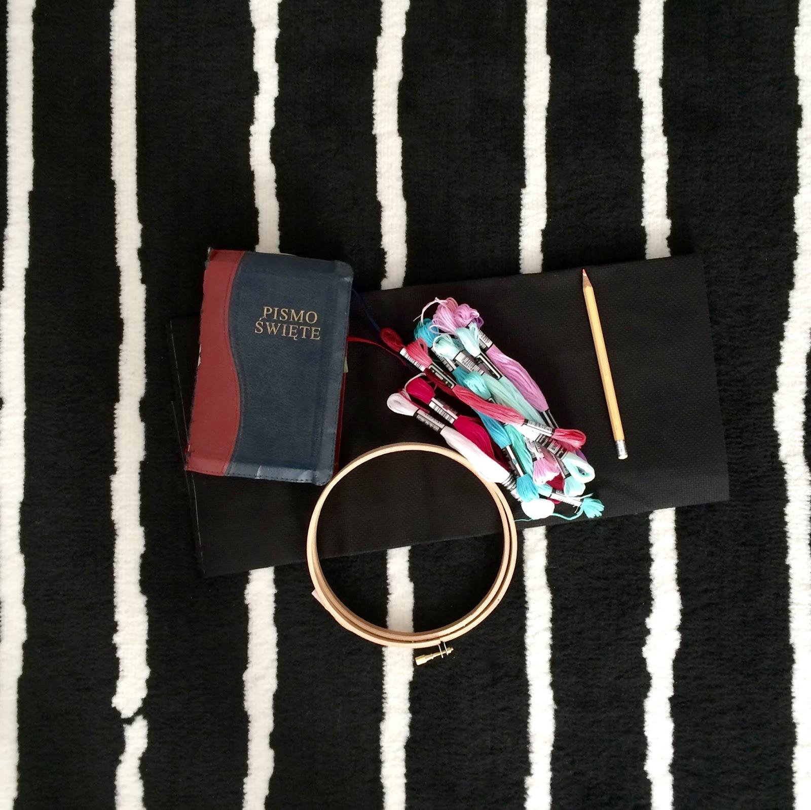diy haft krzyżykowy potrzebne materiałe