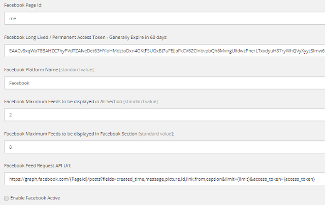 Sitecore fields for Facebook feeds