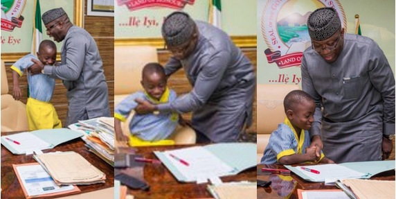 7-year-old-boy-acts-as-governor-of-Ekiti-state