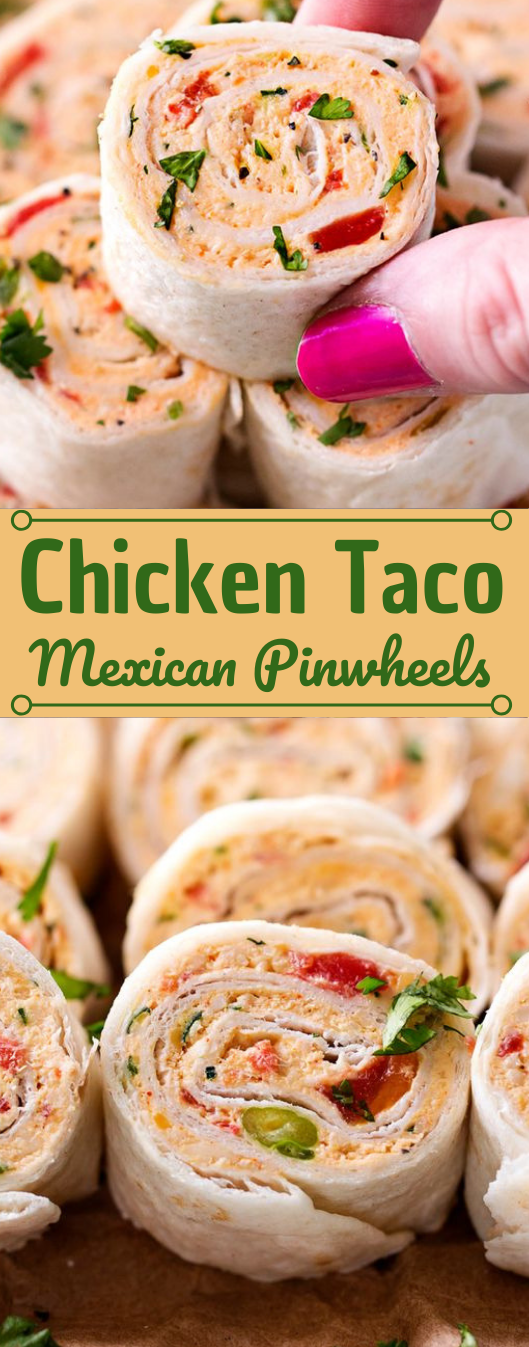 CHICKEN TACO MEXICAN PINWHEELS #dinner #chicken #taco #healthylunch #easy