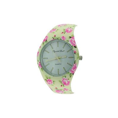 Elizabeth Rose Cream Pink Floral Vintage Design Ladies Quartz Watch