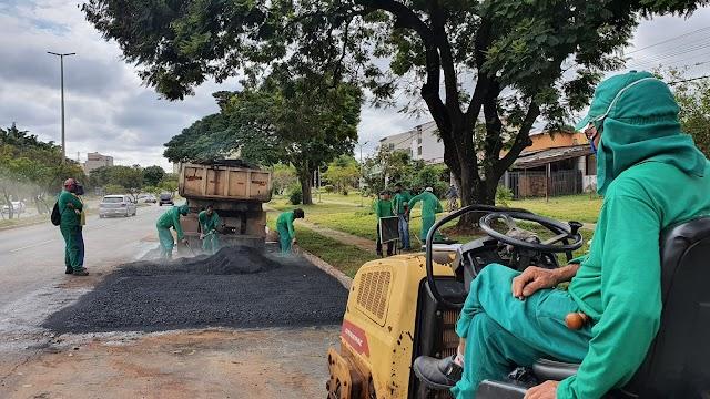 Buraco zero: Administração do Guará já utilizou mais de 460 toneladas de massa asfáltica