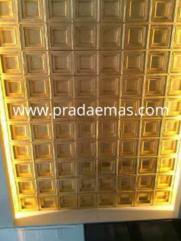 luxury gold plafon finish