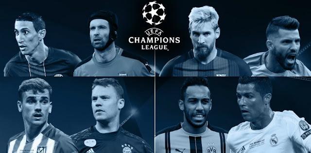 Tabela da fase de grupos da Champions League 2016-2017
