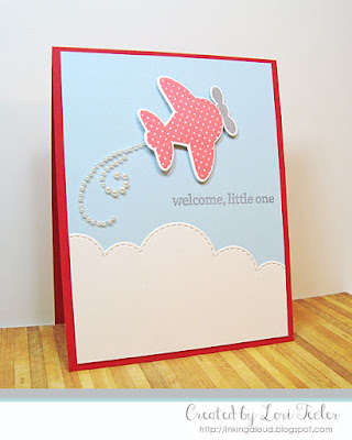 Welcome, Little One card-designed by Lori Tecler/Inking Aloud-stamps from Reverse Confetti