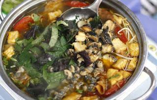 Món ăn ngon: ốc nấu chuối đậu