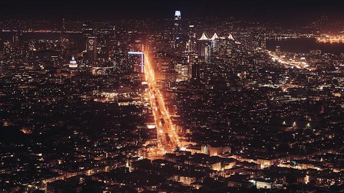 Papel de Parede Cidade a Noite Iluminada