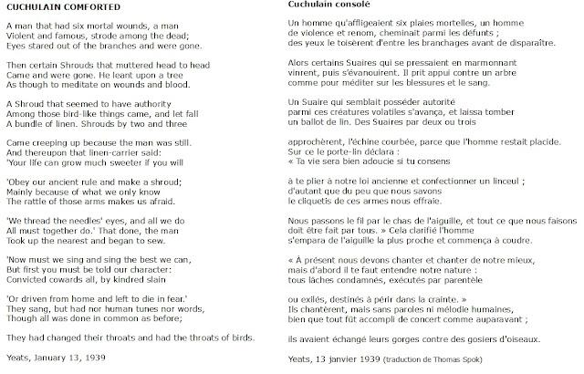 Cuchulain Comforted de Yeats au format image