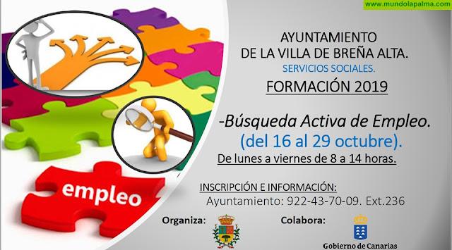 Formación: Búsqueda Activa de Empleo (Bloque 3) en Breña Alta