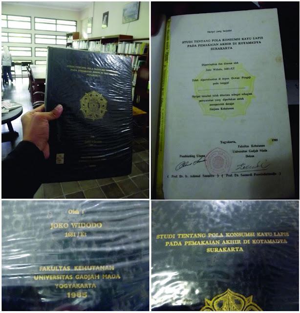 Foto Presiden Jokowi Saat Menjadi Mahasiswa dan Inilah Judul Skripsi yang Beliau Buat