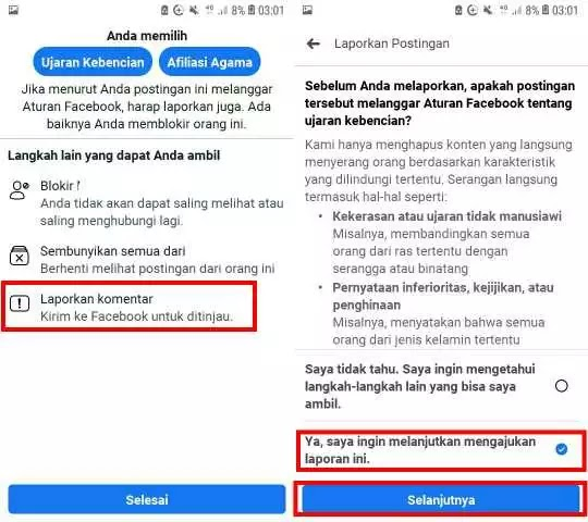 Cara Melaporkan Akun FB Orang Agar diblokir