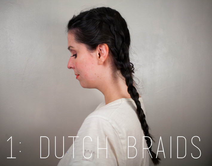 Festival hair: dutch braids
