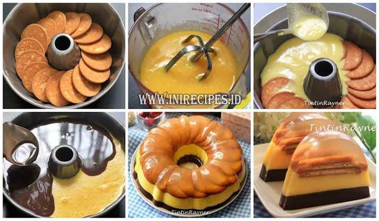 Resep Puding Marie Regal Susu 3 Lapis Yang Super Yummy dan Rich