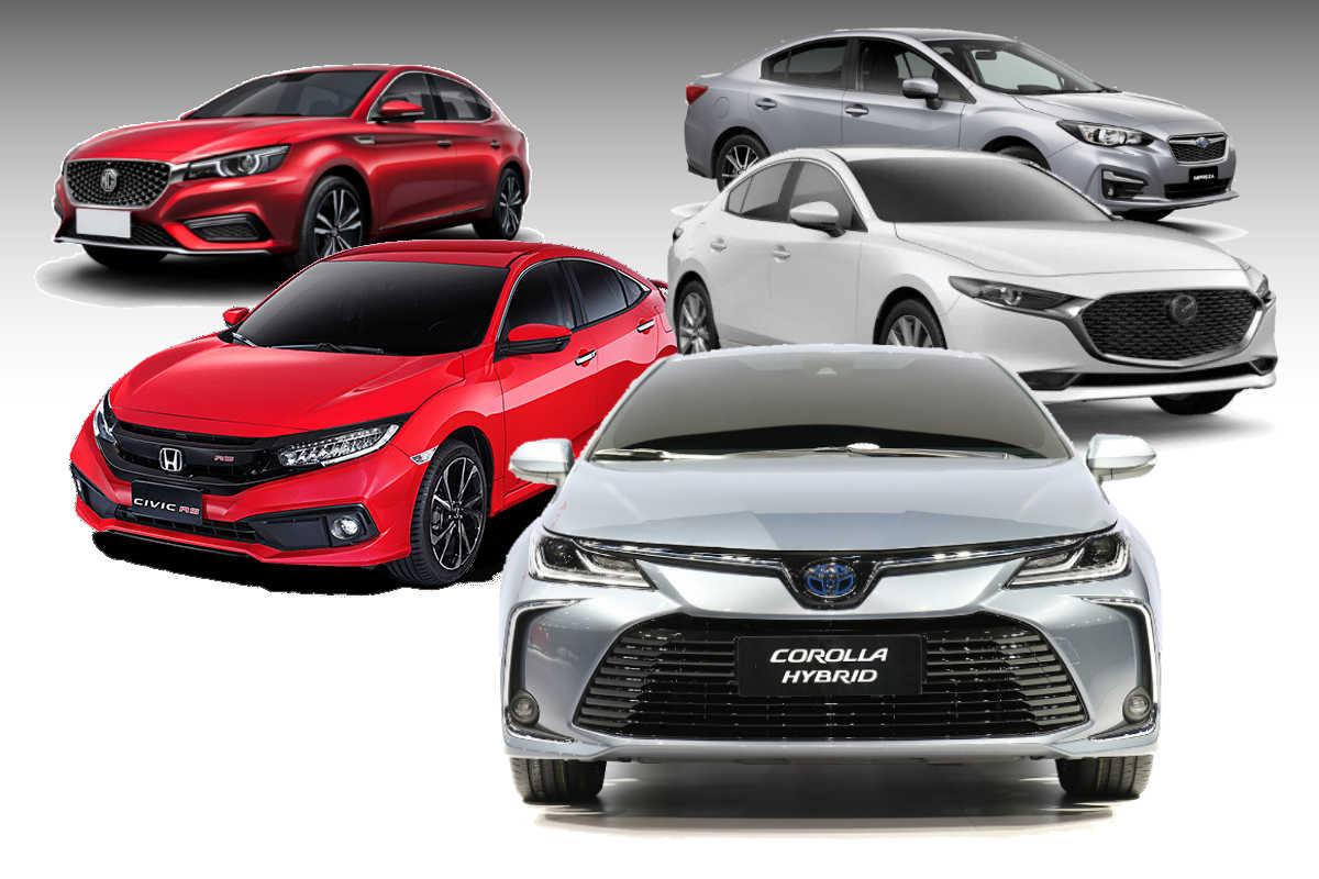 2020 Toyota Corolla Altis Vs Mazda3 Vs Honda Civic Vs