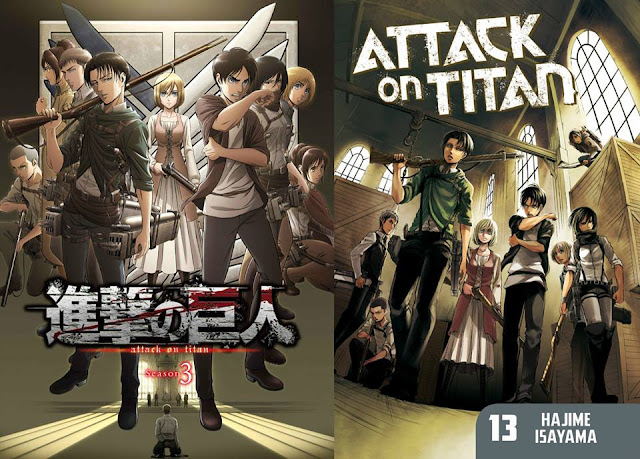a comparison of the final poster along with chapter 13 of the manga.