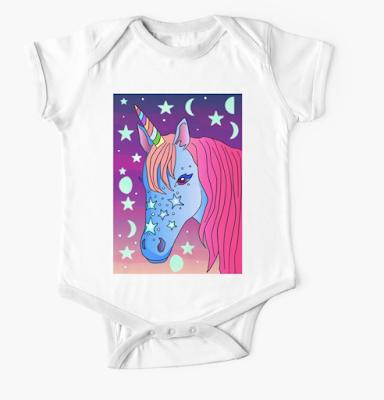 A unicorn baby clothing / Yksisarvinen vauvavaatteessa