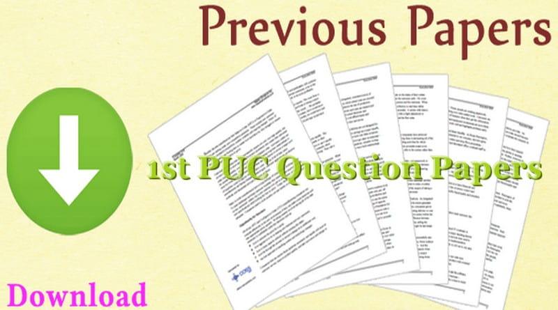 Karnataka 1st PUC Question Papers 2019   PCMB Board Model