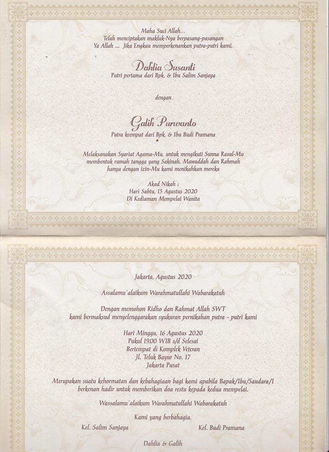 Cetak Undangan Pernikahan Model Amplop Erba 88134 Enha Grafika